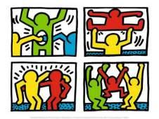 Keith Haring Pop Shop Quad I c1987 Offset