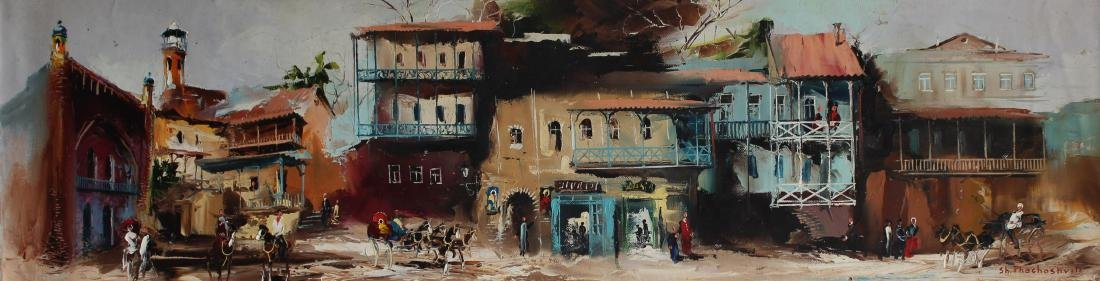 """Shalva Phachoshvili- Original Oil on Canvas """"Horses in"""