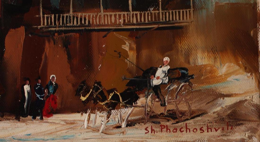 """Shalva Phachoshvili- Original Oil on Canvas """"Horses in - 2"""