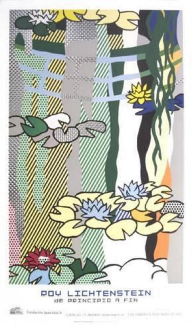 """Roy Lichtenstein """"Water Lilies with Japanese Bridge"""""""
