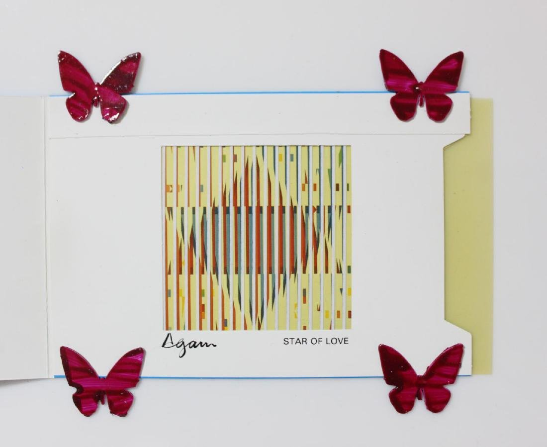 """Yaacov Agam- Agamograph on Paper """"Star of Love"""" - 3"""