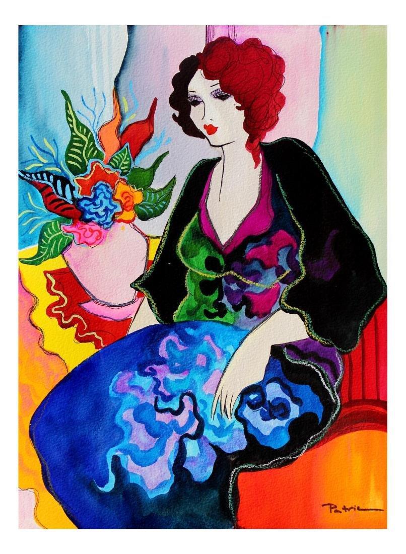 "Patricia Govezensky- Original Watercolor ""Capucine"" - 2"