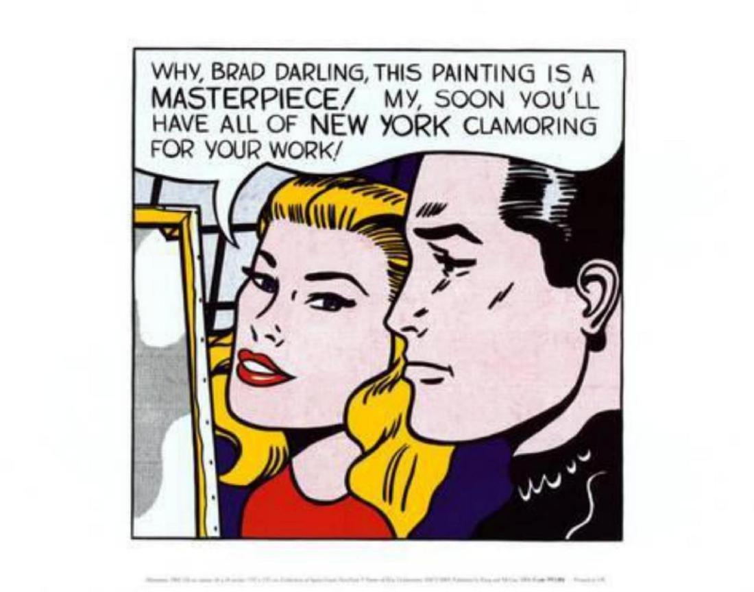 """Roy Lichtenstein """"Masterpiece"""" Offset Lithograph"""