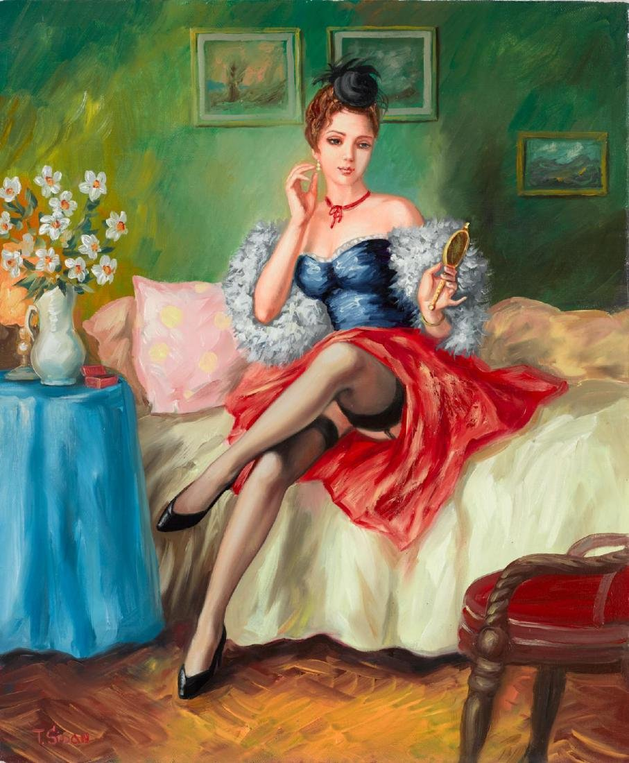 "Taras Sidan- Original Oil on Canvas ""Before The Date"""
