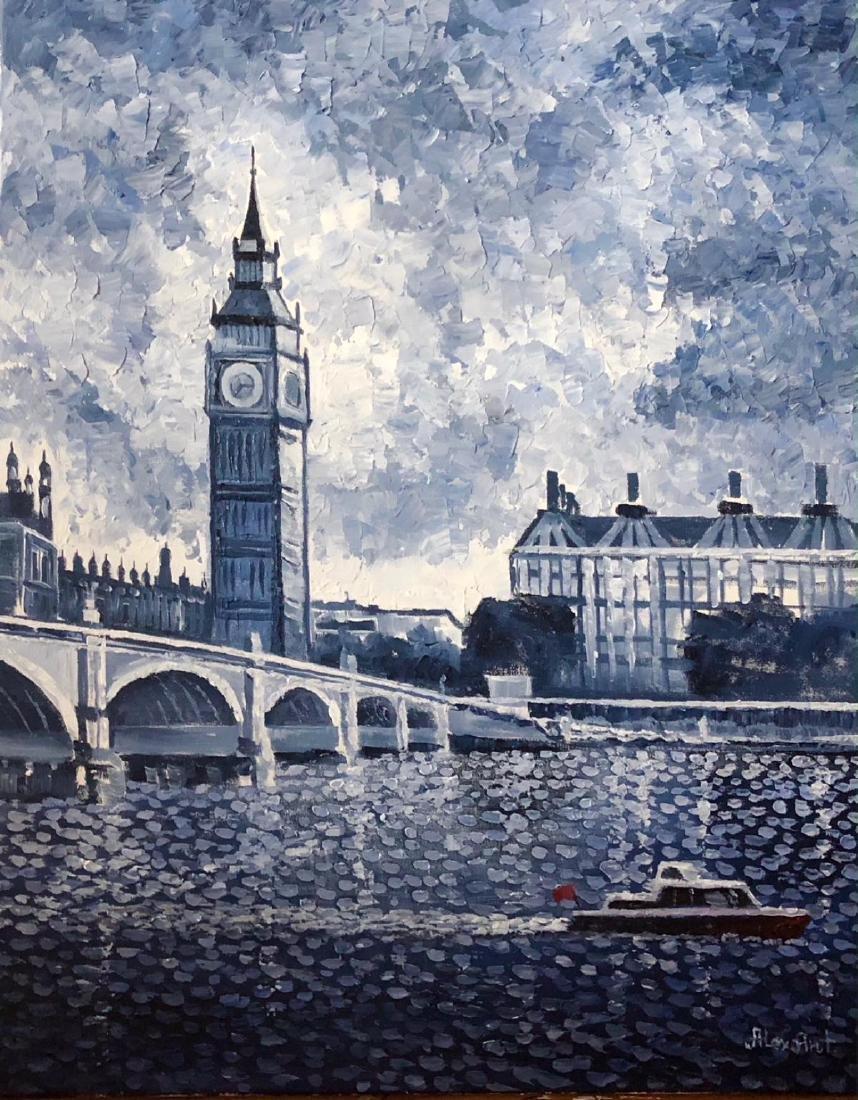 "Alexander Antanenka ""Big Ben, London"" Original Acrylic"
