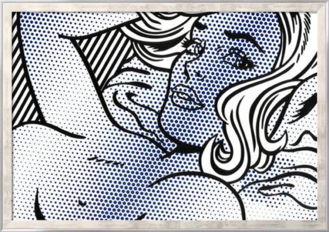 """Roy Lichtenstein """"Seductive Girl"""" Custom Framed"""