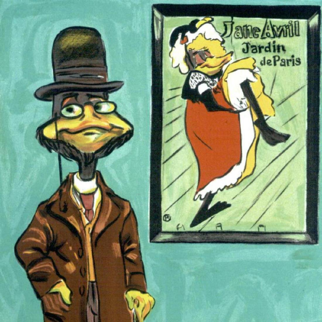 """Chuck Jones """"Toulouse Le Duck"""" Hand Signed Limited - 2"""