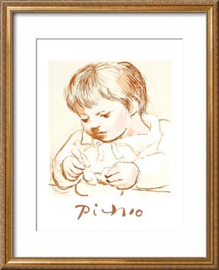 """Pablo Picasso """"Enfant Deieunant"""" Custom Framed"""