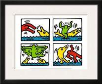 Keith Haring Pop Shop V Custom Framed Offset