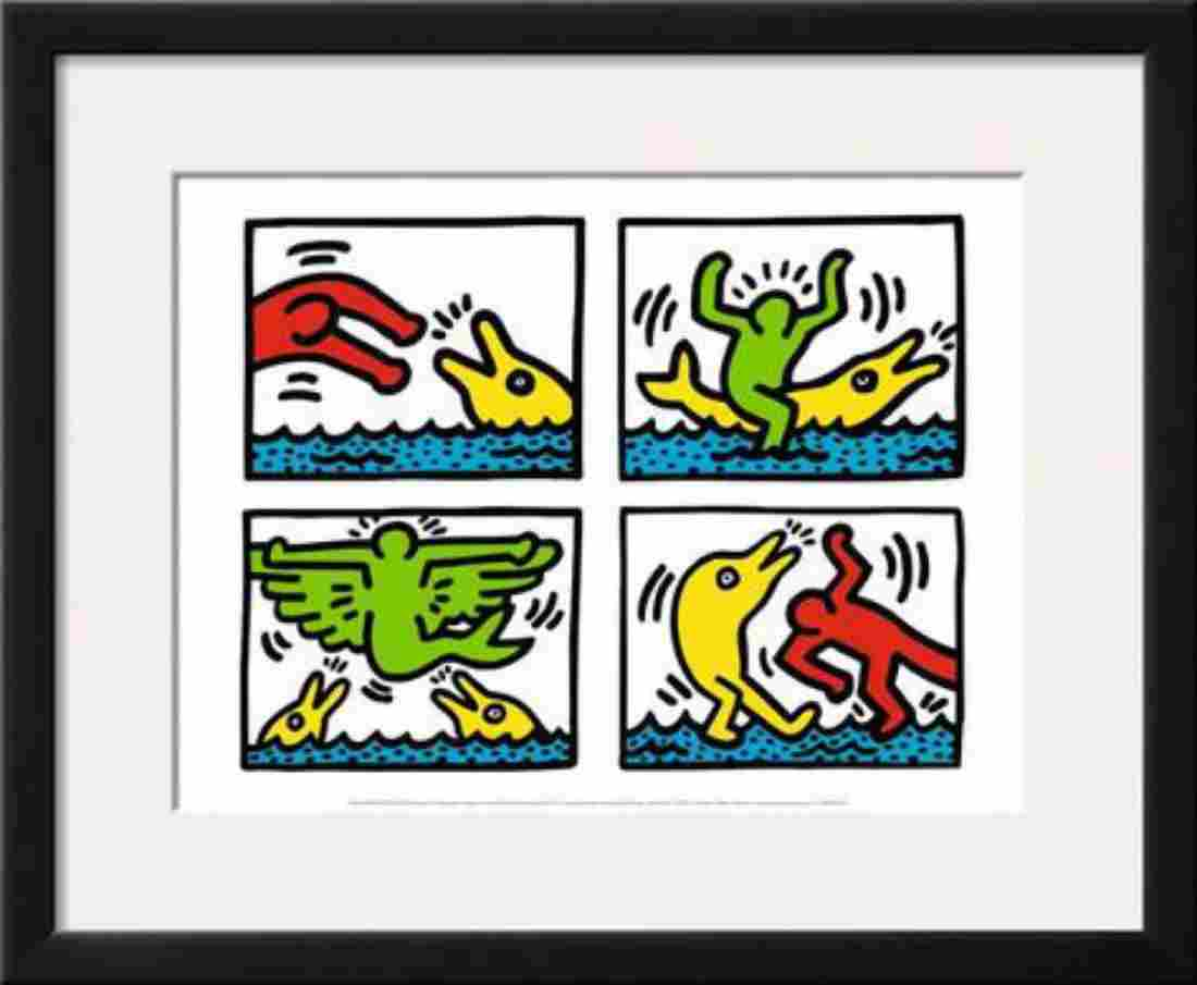 "Keith Haring ""Pop Shop V"" Custom Framed Offset"