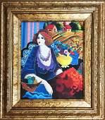 Patricia Govezensky Original Giclee on Canvas Lady in