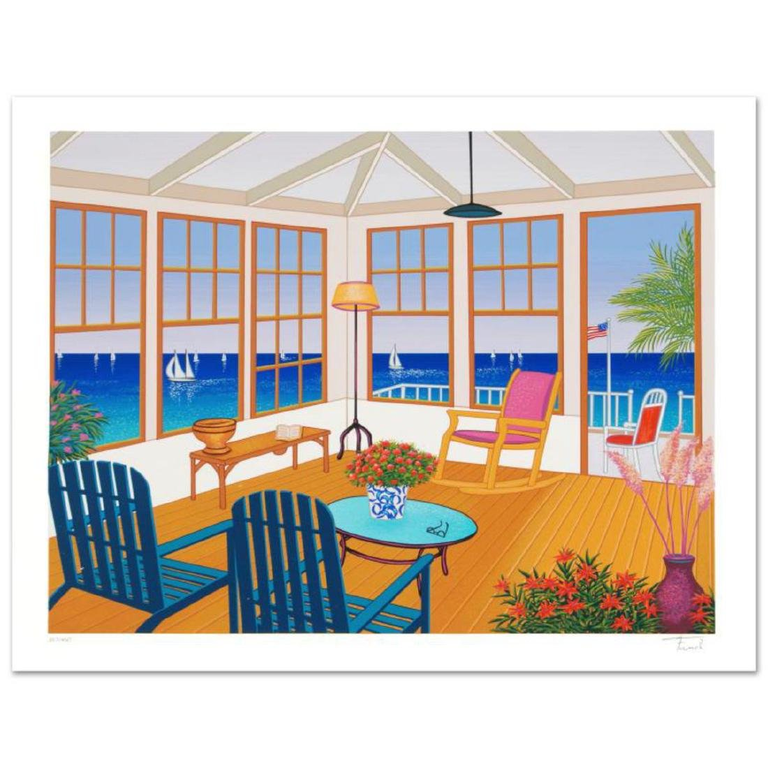 """""""New England Villa"""" Limited Edition Serigraph by Fanch"""