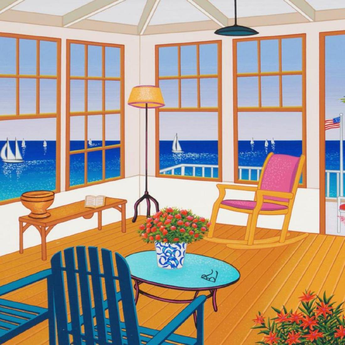 """""""New England Villa"""" Limited Edition Serigraph by Fanch - 2"""
