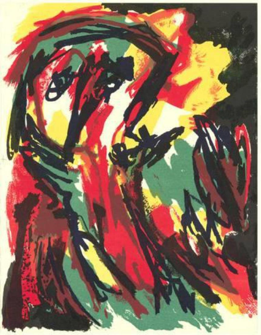 "Karel Appel ""Untitled composition"" Lithograph"