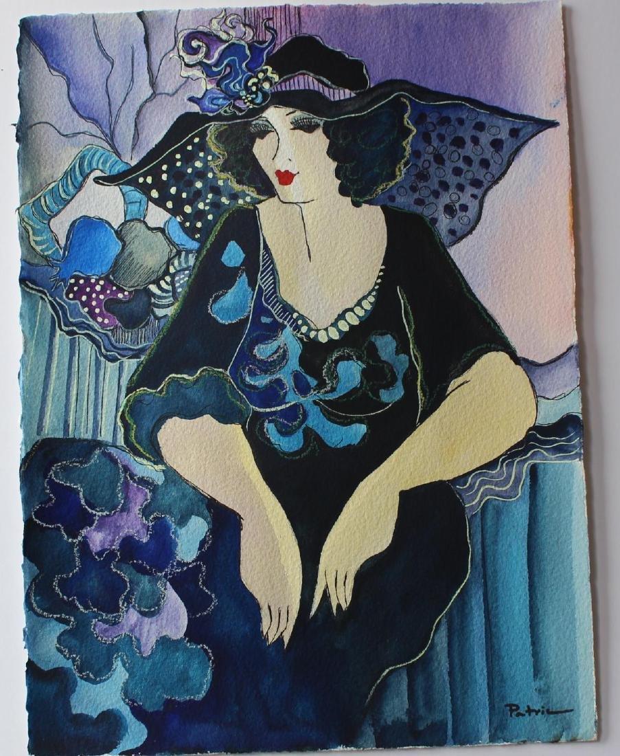 "Patricia Govezensky- Original Watercolor ""Clara"""