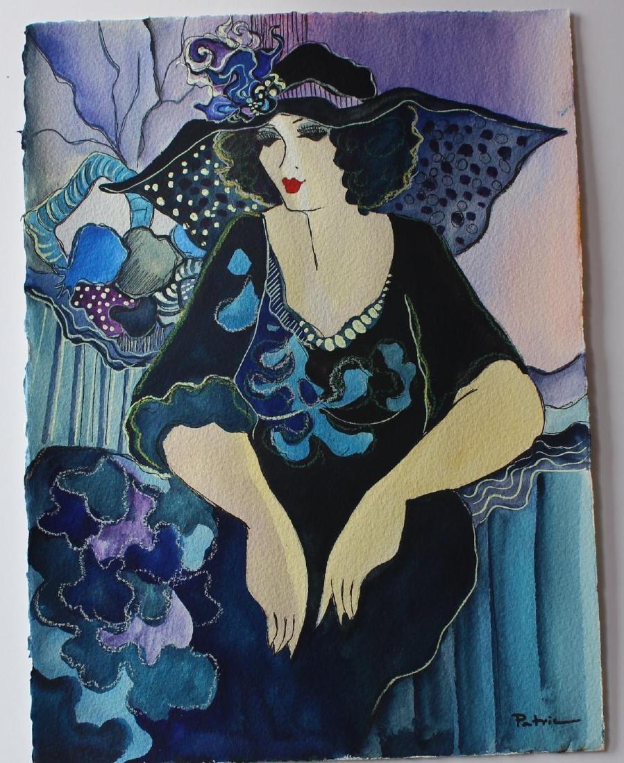 "Patricia Govezensky- Original Watercolor ""Clara"" - 2"