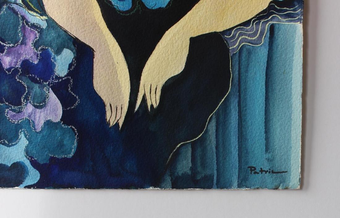 "Patricia Govezensky- Original Watercolor ""Clara"" - 3"