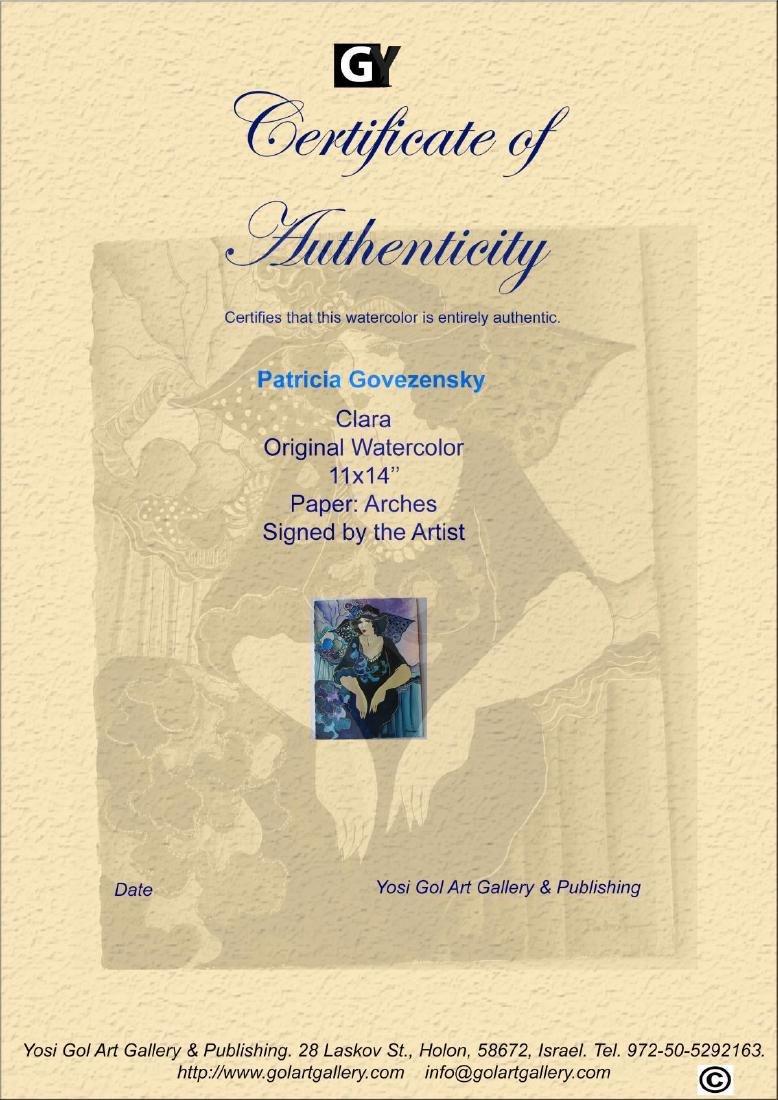 "Patricia Govezensky- Original Watercolor ""Clara"" - 4"