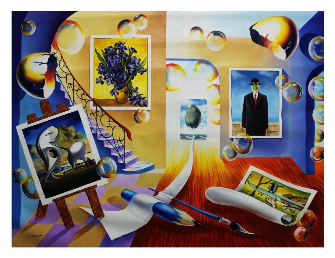 "Alexander Astahov- Original Oil on Canvas ""Writing My"