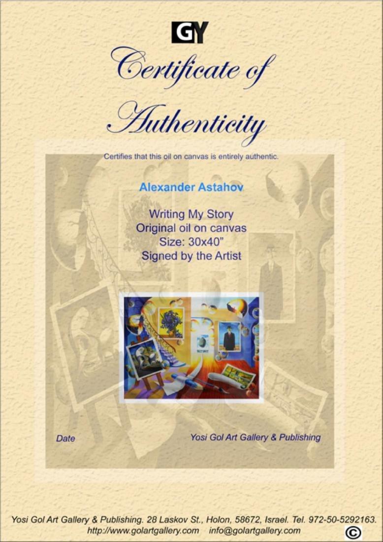 "Alexander Astahov- Original Oil on Canvas ""Writing My - 3"