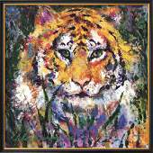 LeRoy Neiman Tiger Custom Framed
