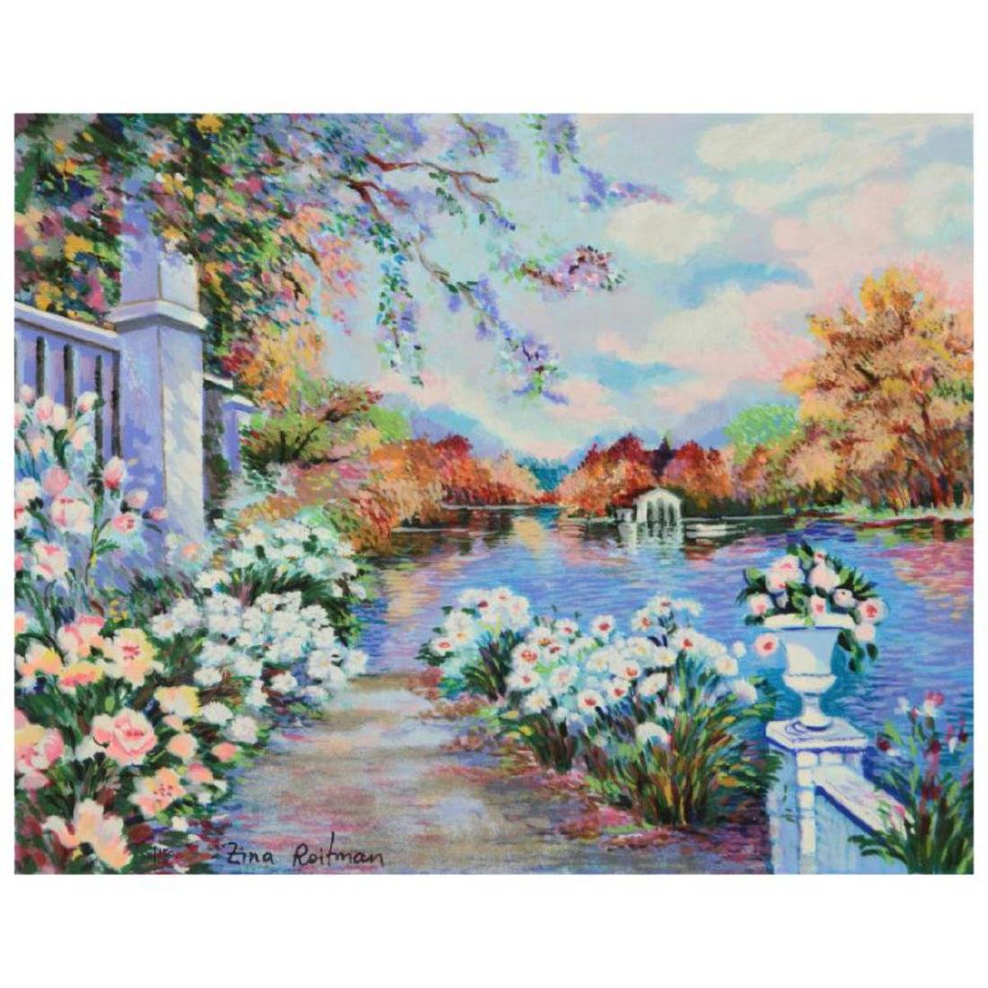 "Zina Roitman, ""Lac Fleuri"" Limited Edition Serigraph on"