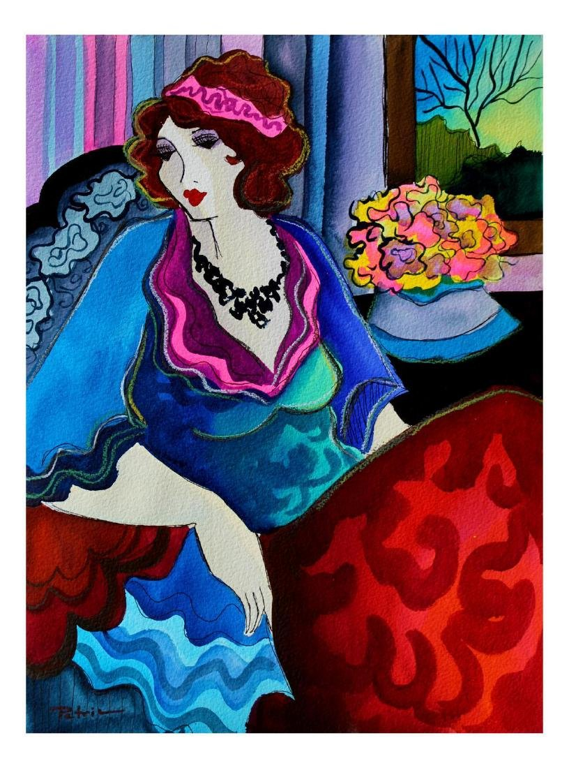 "Patricia Govezensky- Original Watercolor ""Anne"""
