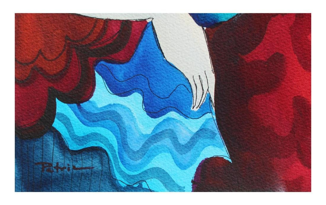 "Patricia Govezensky- Original Watercolor ""Anne"" - 2"