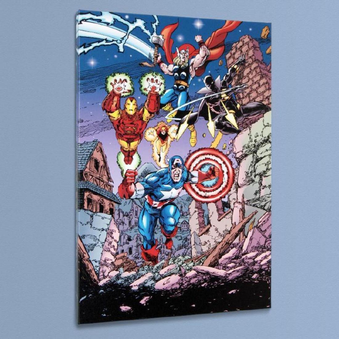 """Avengers #21"" Limited Edition Giclee on Canvas by - 3"