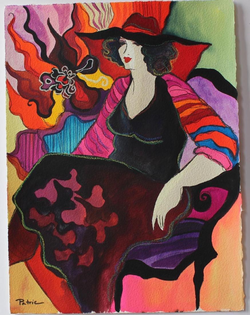 "Patricia Govezensky- Original Watercolor ""Ida"""