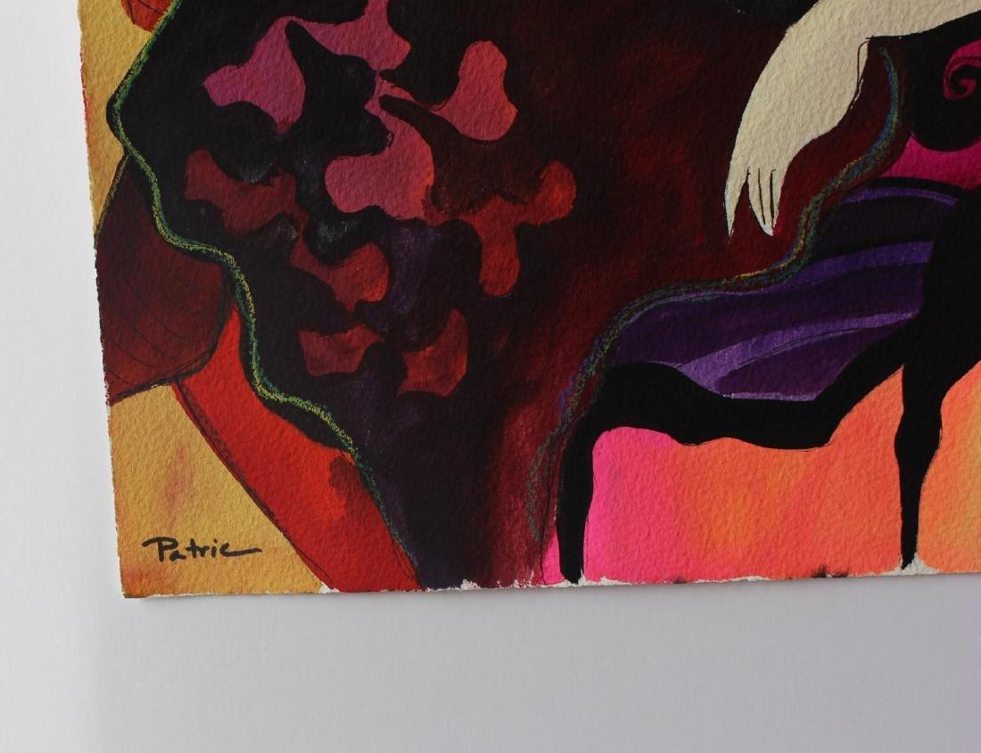 "Patricia Govezensky- Original Watercolor ""Ida"" - 2"
