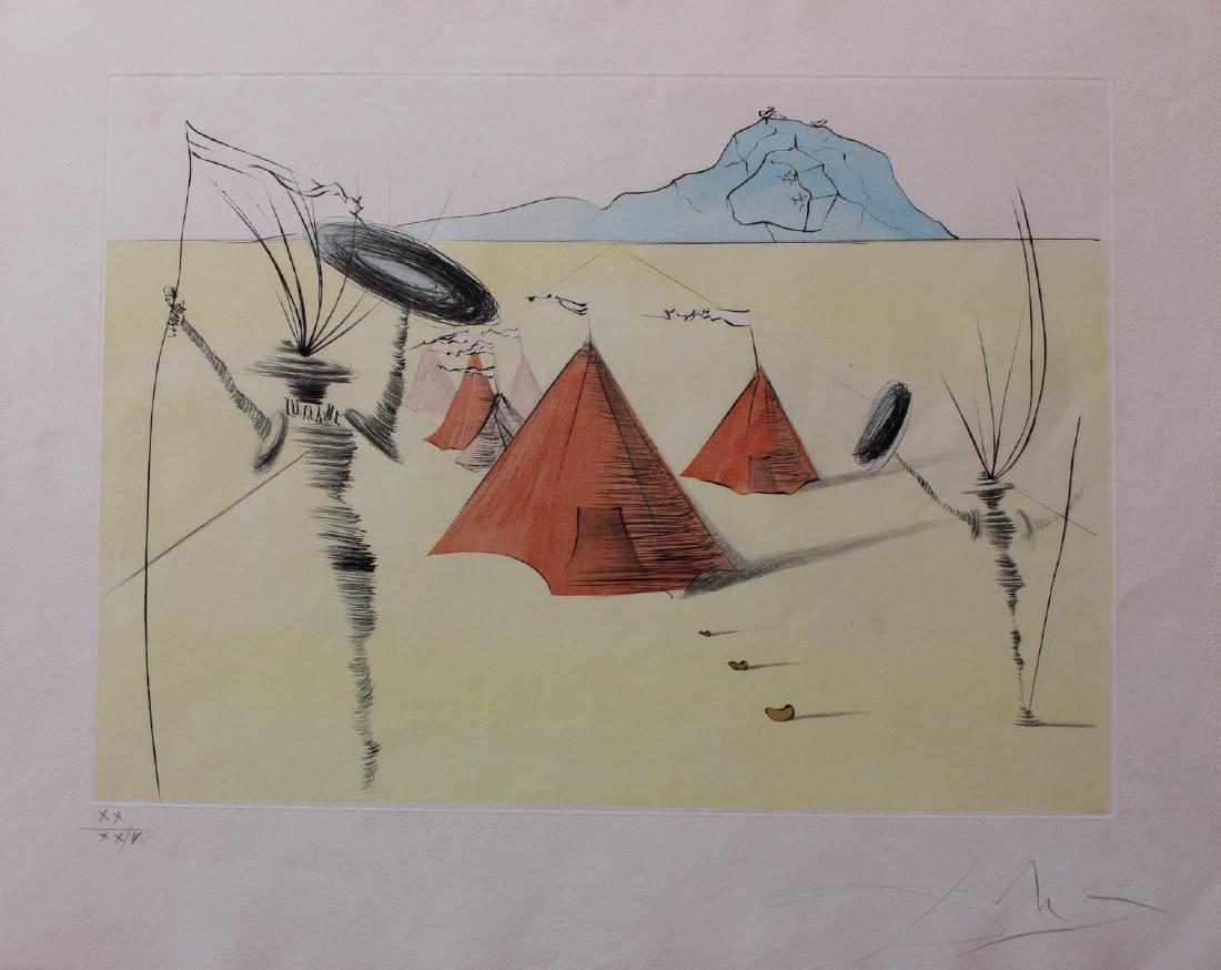 Salvador Dali- Original Etching with color by stencil