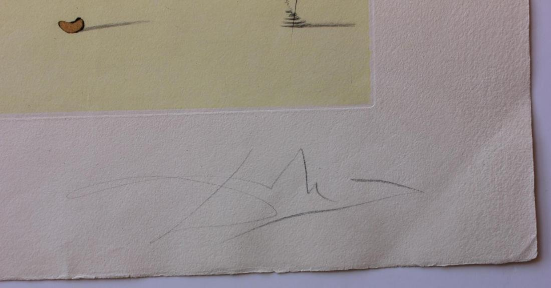 Salvador Dali- Original Etching with color by stencil - 3