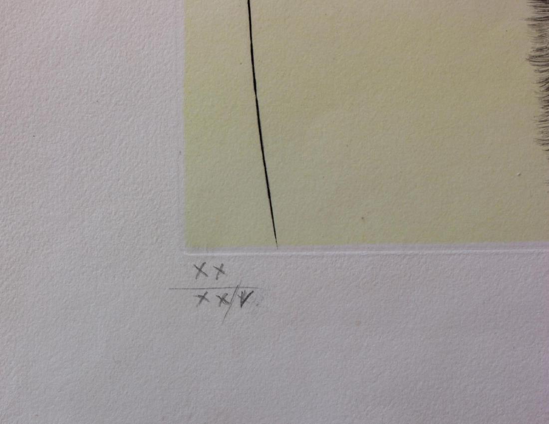Salvador Dali- Original Etching with color by stencil - 4