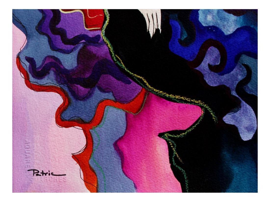 "Patricia Govezensky- Original Watercolor ""Aurore"" - 2"