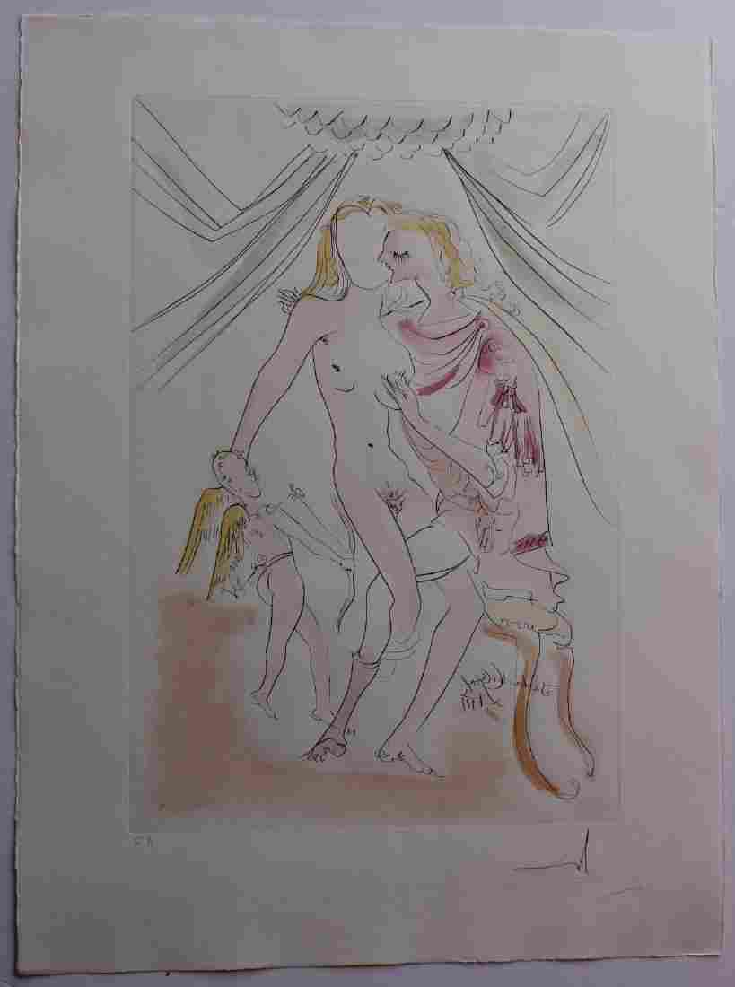 "Salvador Dali- Original Engravings with Color ""Venus,"