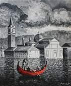 """Alexander Antanenka """"Venice"""" Original Acrylic on Canvas"""