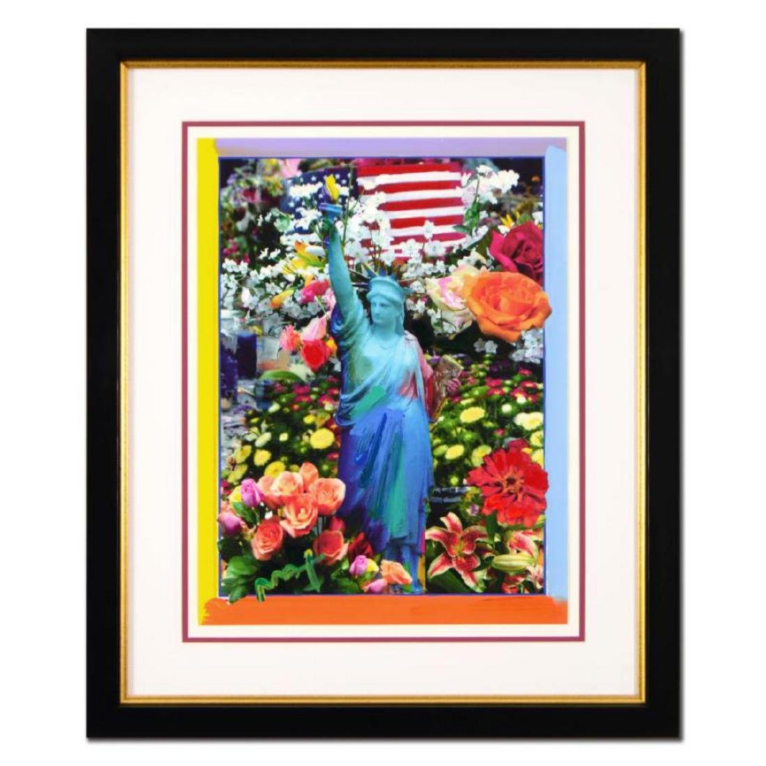 "Peter Max - ""Land of the Free"" Framed One-Of-A-Kind"