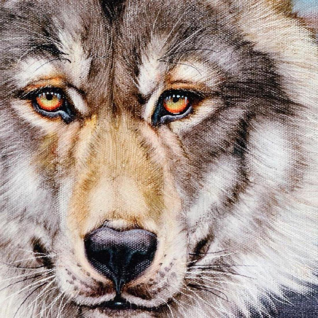 """""""Wolf"""" Limited Edition Giclee on Canvas by Martin - 2"""