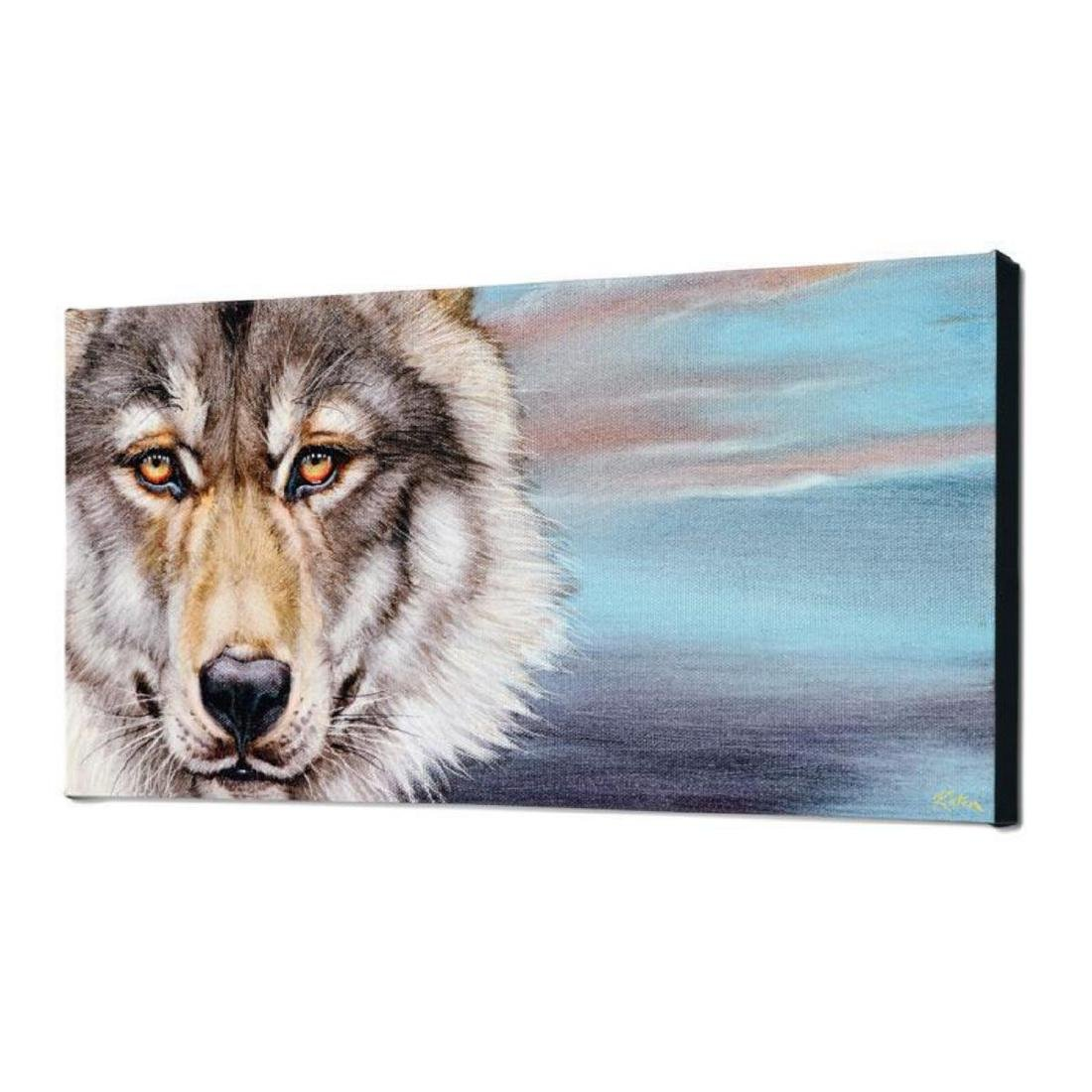 """""""Wolf"""" Limited Edition Giclee on Canvas by Martin - 3"""