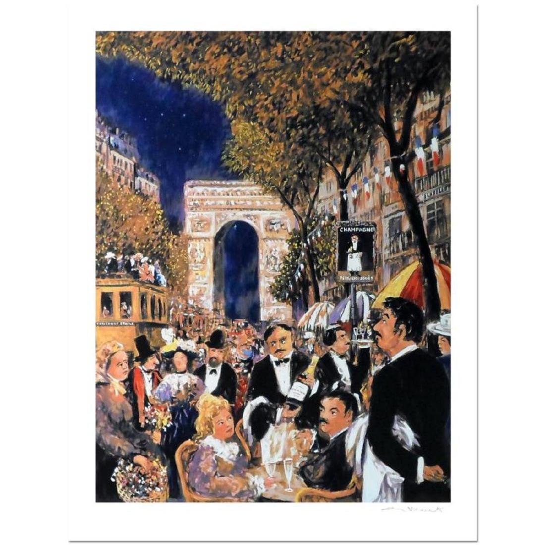 Awe Inspiring Guy Buffet Champs Elysees Limited Edition Serigraph Download Free Architecture Designs Scobabritishbridgeorg