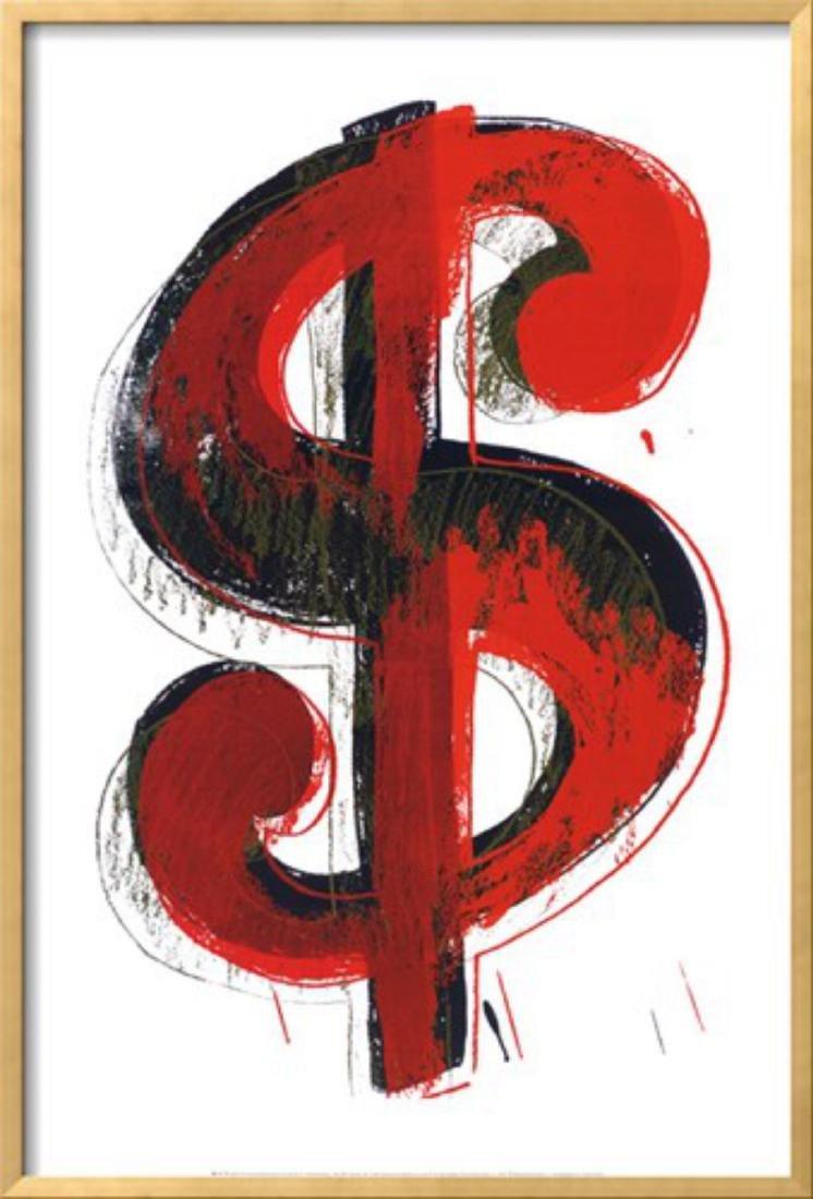 """Andy Warhol """"$$$"""" Custom Framed"""