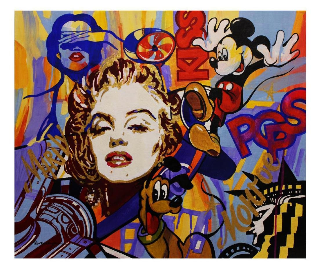 "Nastya Rovenskaya- Original Oil on Canvas ""Monroe Loves"
