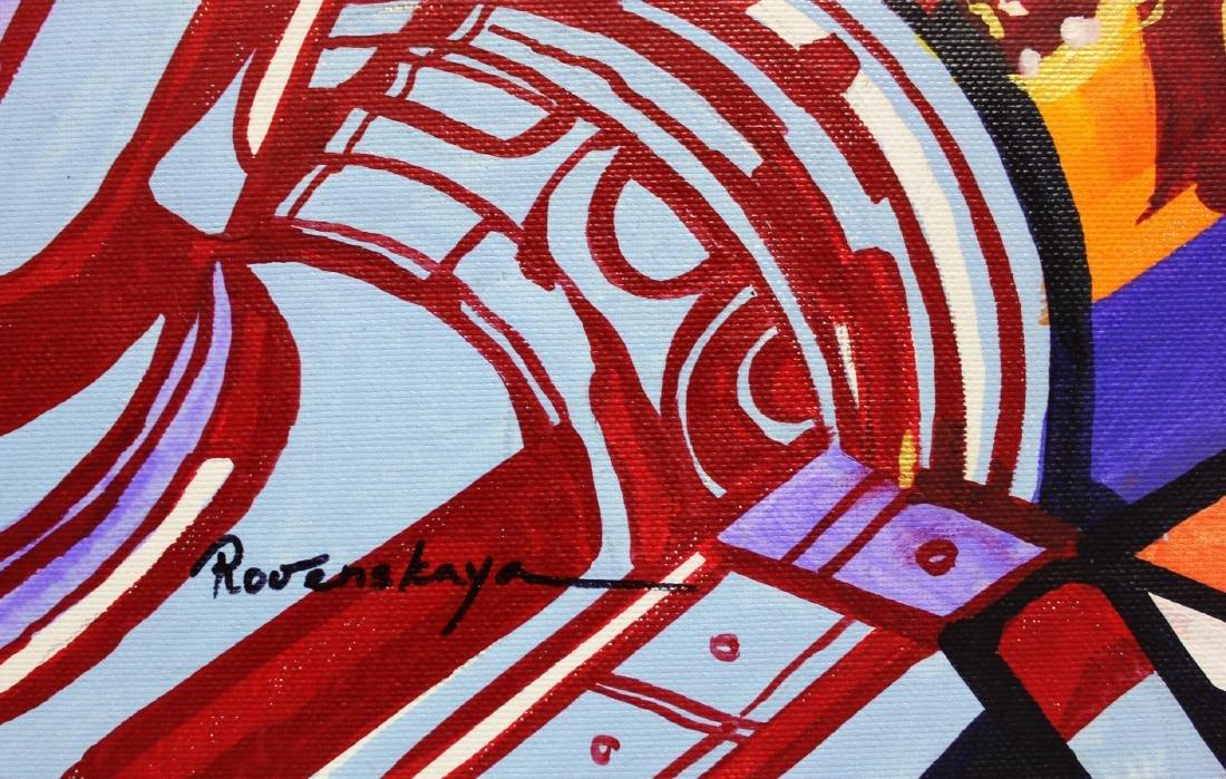 "Nastya Rovenskaya- Original Oil on Canvas ""Monroe Loves - 2"