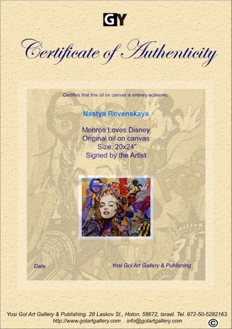 "Nastya Rovenskaya- Original Oil on Canvas ""Monroe Loves - 3"
