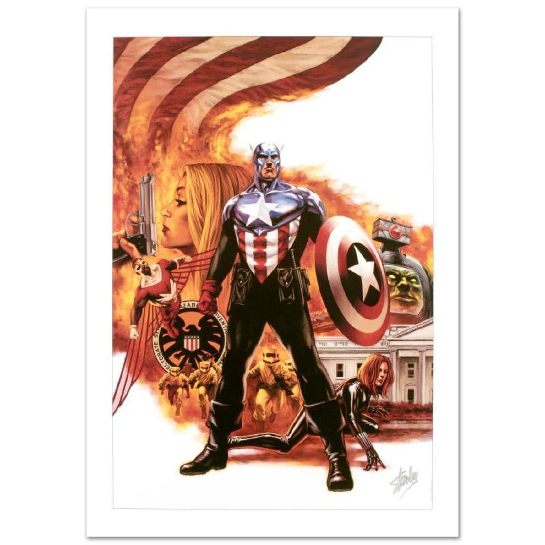 """""""Captain America #41"""" Limited Edition Giclee on Canvas"""