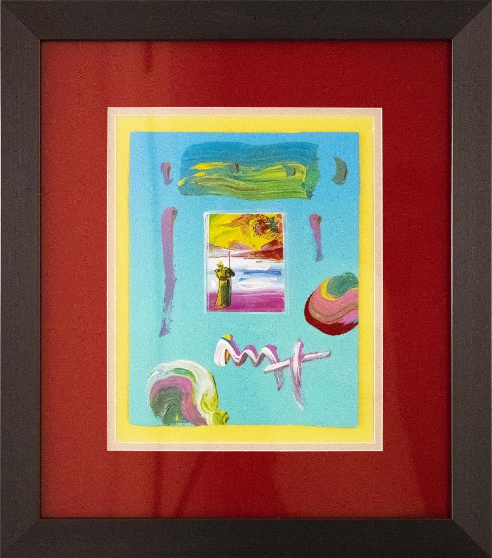 "Peter Max- Original Mixed Media ""Sage and Profile Ver."