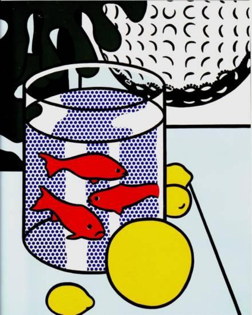 "Roy Lichtenstein- Offset Lithograph ""Still Life with"