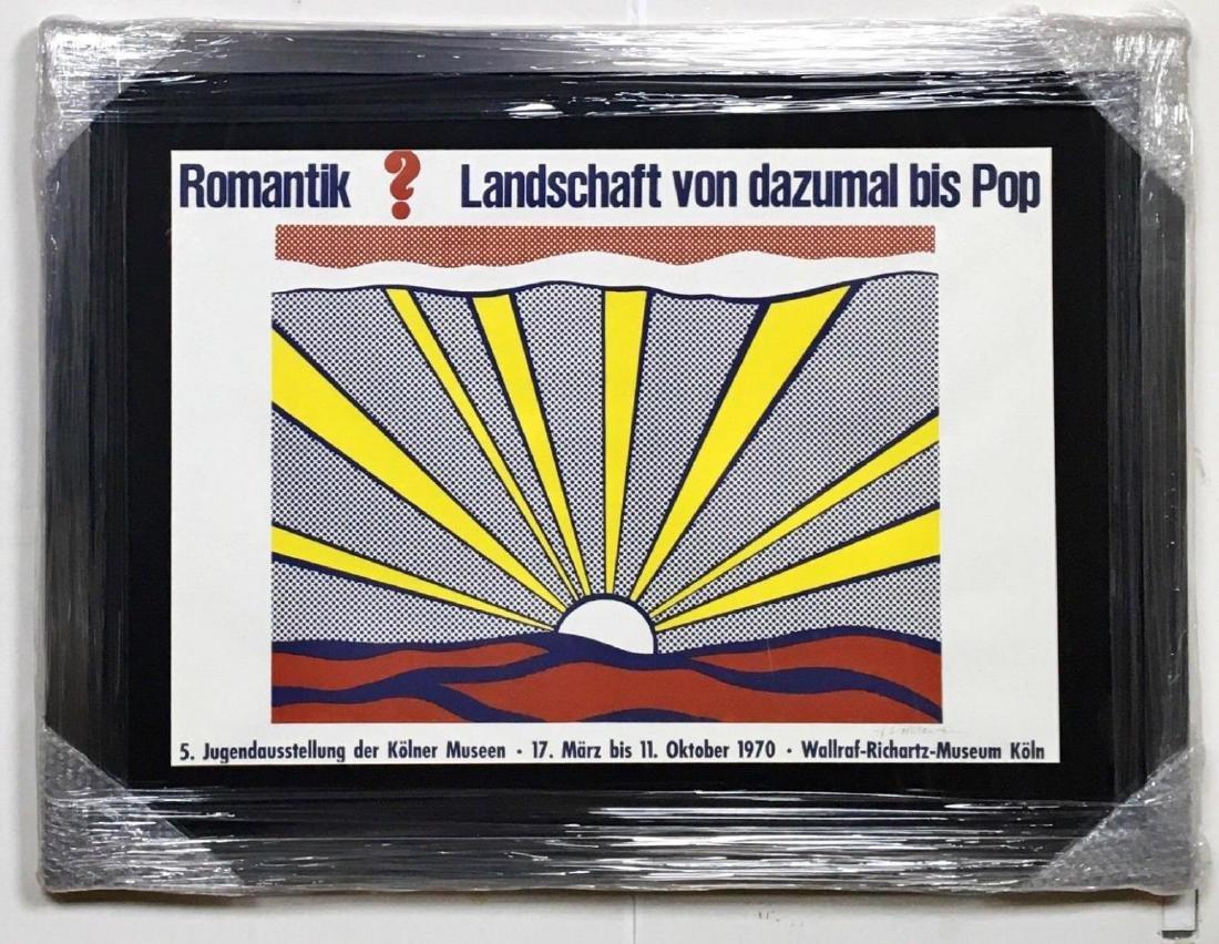 """ROY LICHTENSTEIN """"SUNRISE"""" HAND SIGNED PRINT ON PAPER"""