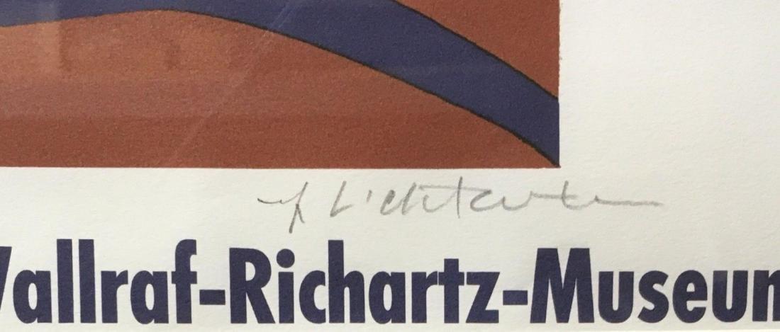 """ROY LICHTENSTEIN """"SUNRISE"""" HAND SIGNED PRINT ON PAPER - 2"""